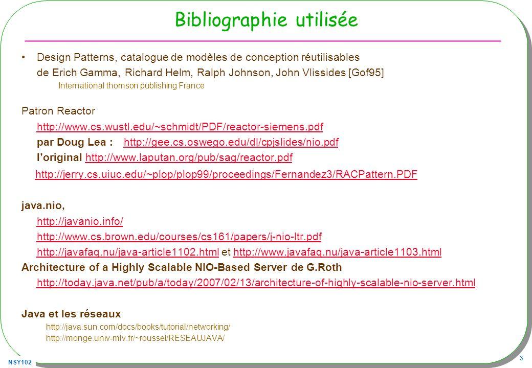 NSY102 114 Annexe JAWS Designing a Concurrent Web Server –http://www.cs.wustl.edu/~schmidt/PDF/JAWS.pdfhttp://www.cs.wustl.edu/~schmidt/PDF/JAWS.pdf –http://www.dre.vanderbilt.edu/JAWS/research.html#introhttp://www.dre.vanderbilt.edu/JAWS/research.html#intro