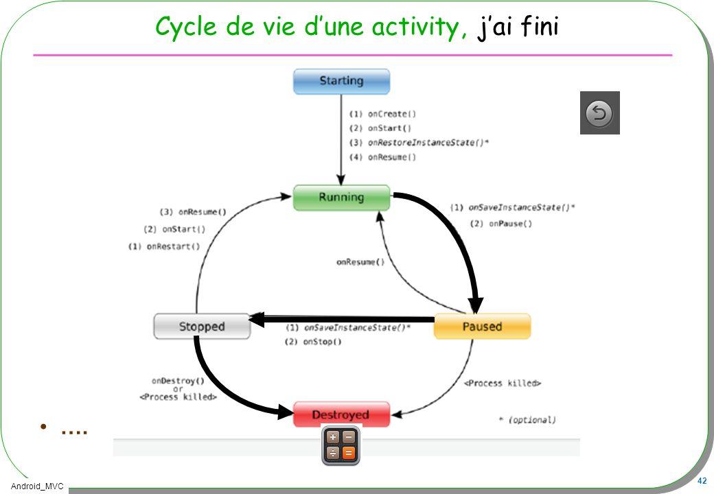 Android_MVC 42 Cycle de vie dune activity, jai fini ….