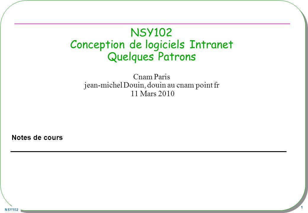NSY102 32 Interface & abstract –Déjà vu …