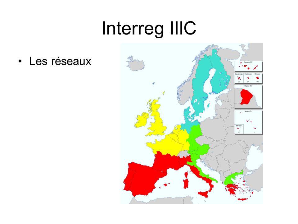 Interreg IIIC Les réseaux