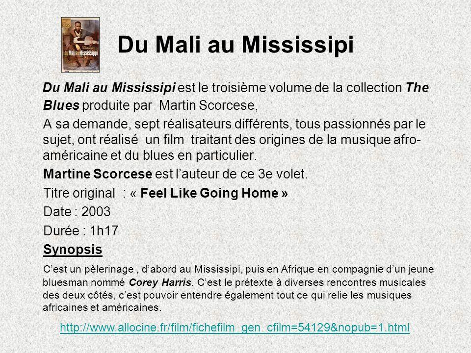 Du Mali au Mississipi Du Mali au Mississipi est le troisième volume de la collection The Blues produite par Martin Scorcese, A sa demande, sept réalis