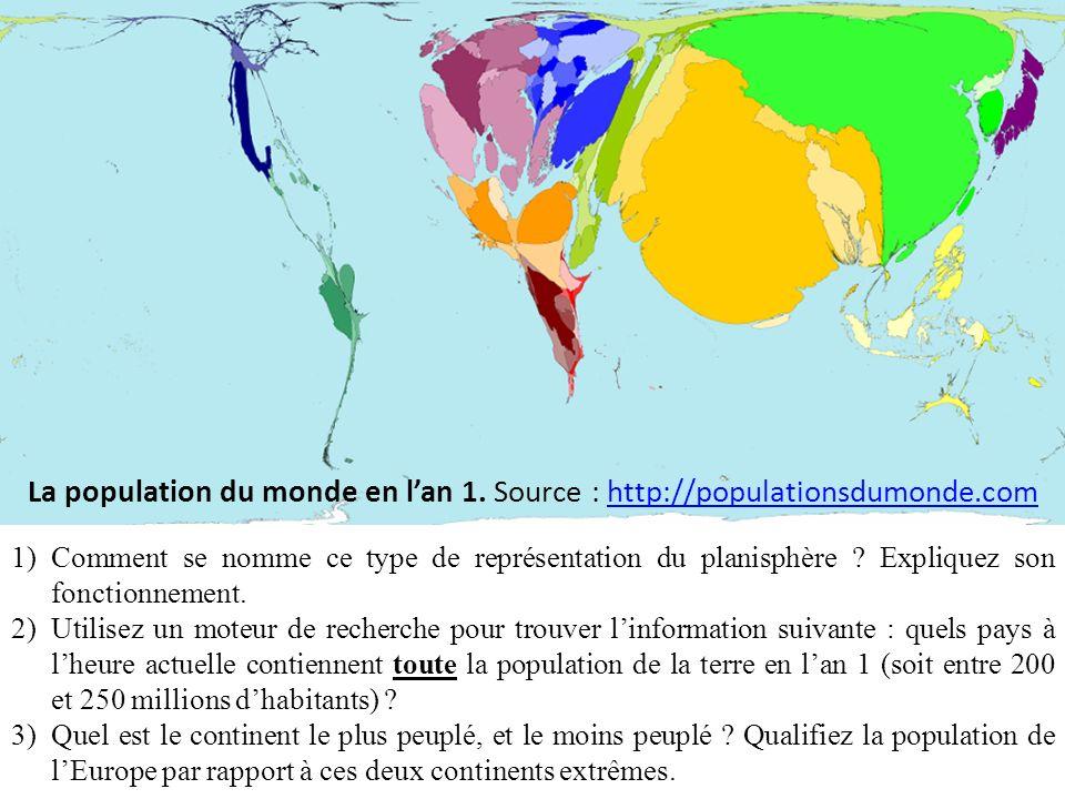 1)Entre 1700 et 1800, la population mondiale saccroit, mais la répartition est-elle profondément modifiée .