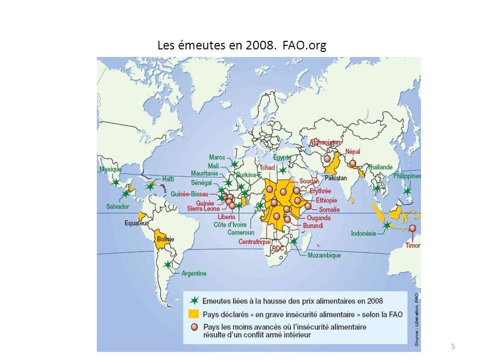 Les émeutes en 2008. FAO.org 5