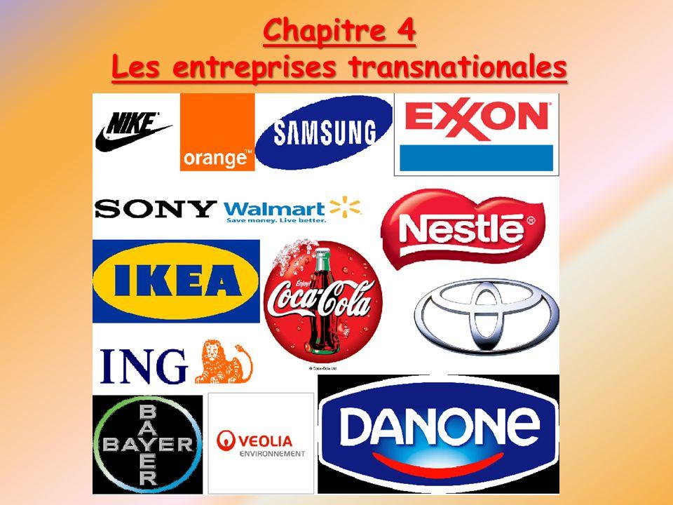 Chapitre 4 Les entreprises transnationales