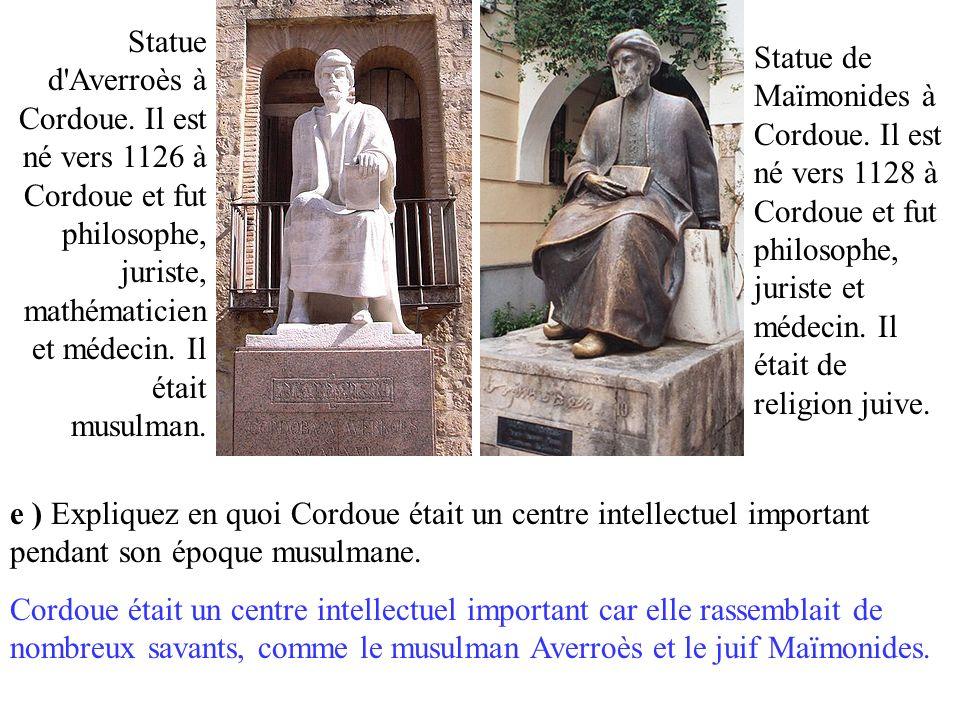 Statue d Averroès à Cordoue.