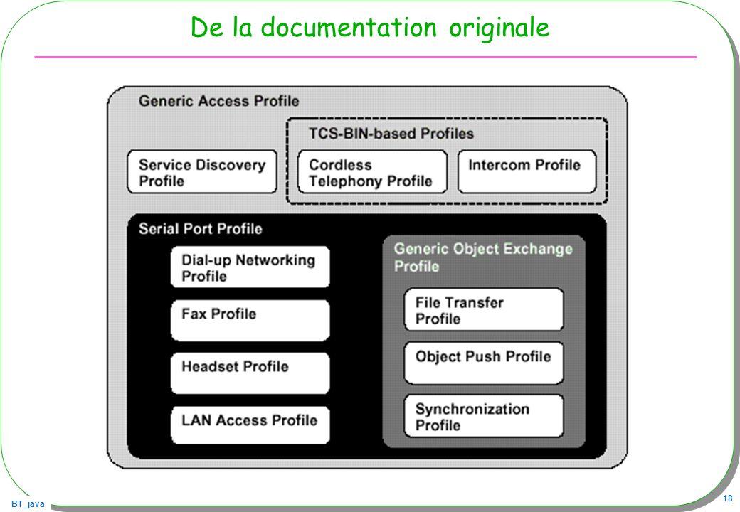 BT_java 18 De la documentation originale