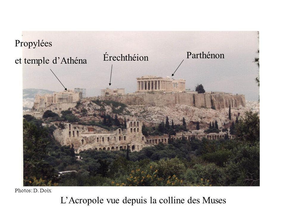 Parthénon Érechthéion Propylées et temple dAthéna LAcropole vue depuis la colline des Muses Photos: D. Doix