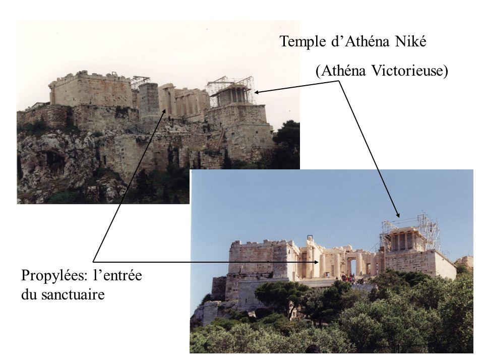 Propylées: lentrée du sanctuaire Temple dAthéna Niké (Athéna Victorieuse)