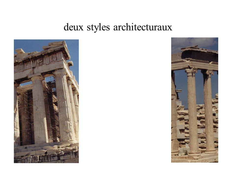 deux styles architecturaux