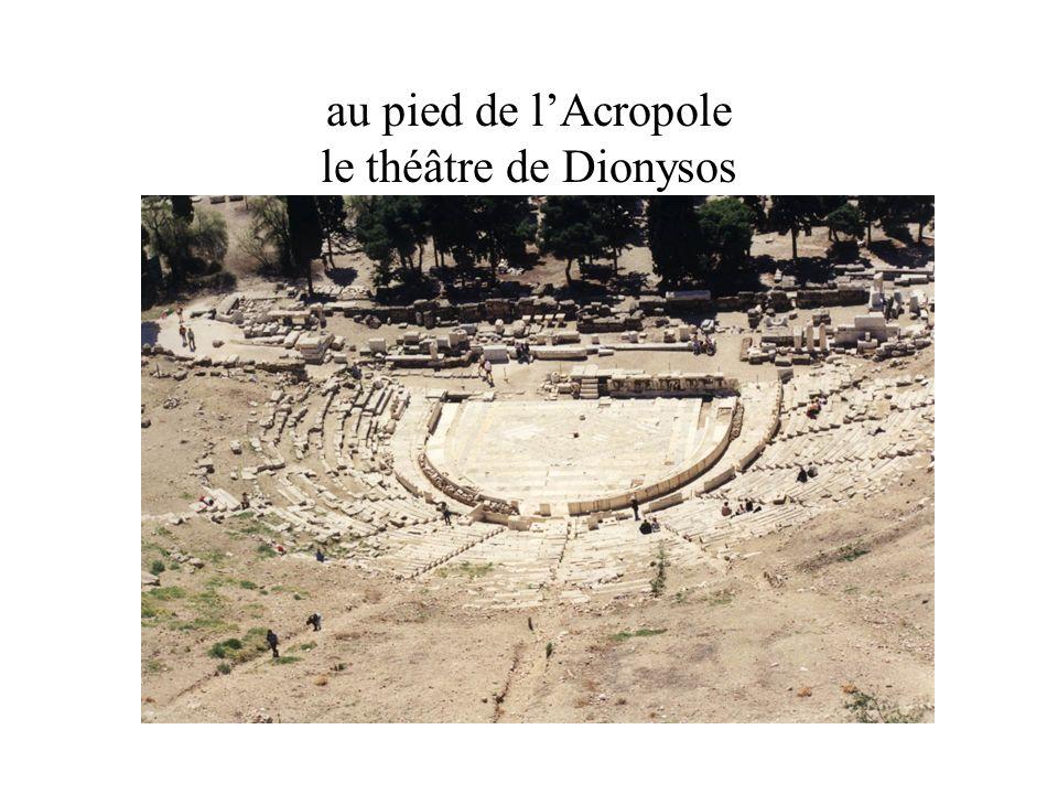 au pied de lAcropole le théâtre de Dionysos