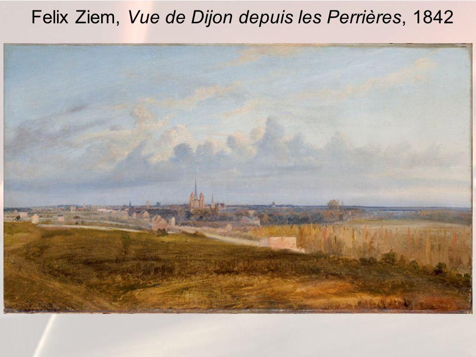 Felix Ziem, Vue de Dijon depuis les Perrières, 1842