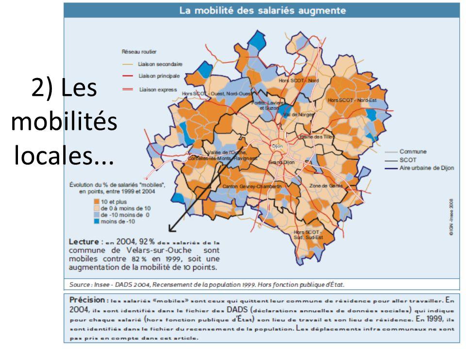 2) Les mobilités locales...