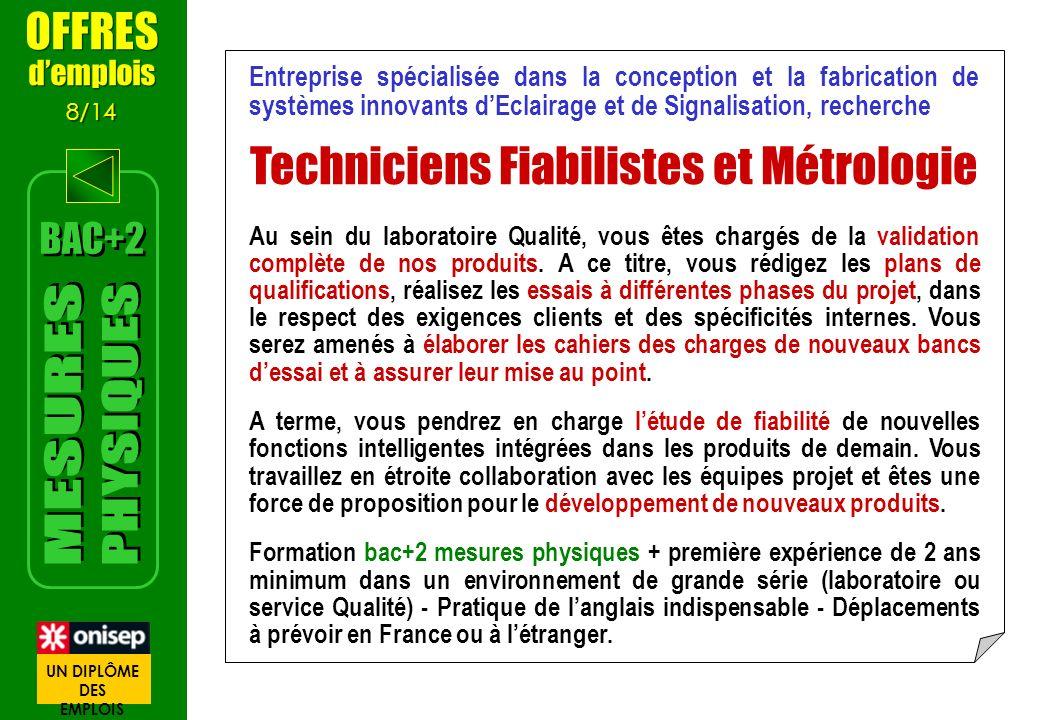Entreprise spécialisée dans la conception et la fabrication de systèmes innovants dEclairage et de Signalisation, recherche Techniciens Fiabilistes et