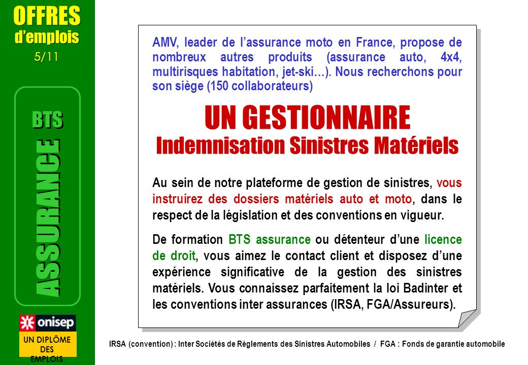 AMV, leader de lassurance moto en France, propose de nombreux autres produits (assurance auto, 4x4, multirisques habitation, jet-ski…). Nous rechercho