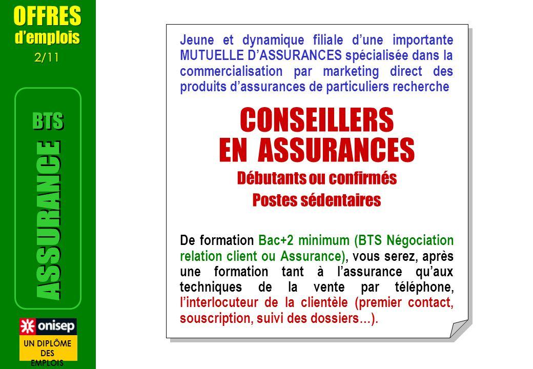 Jeune et dynamique filiale dune importante MUTUELLE DASSURANCES spécialisée dans la commercialisation par marketing direct des produits dassurances de