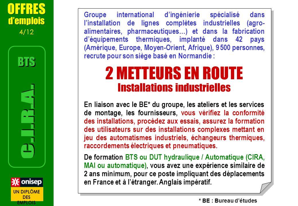 Groupe international dingénierie spécialisé dans linstallation de lignes complètes industrielles (agro- alimentaires, pharmaceutiques…) et dans la fab