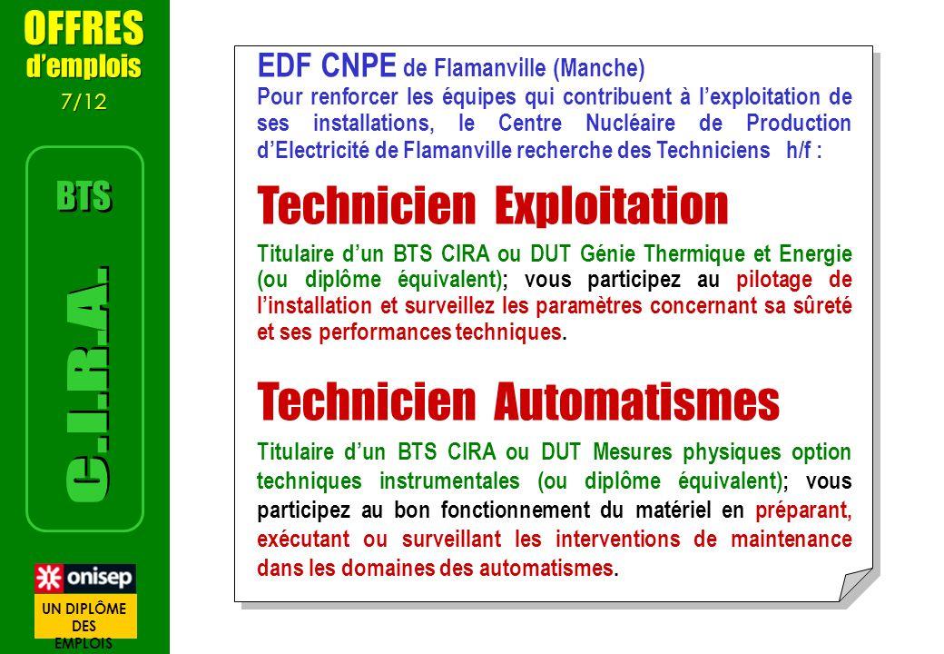 EDF CNPE de Flamanville (Manche) Pour renforcer les équipes qui contribuent à lexploitation de ses installations, le Centre Nucléaire de Production dE
