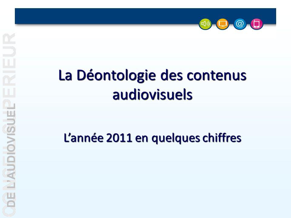 DE LAUDIOVISUEL La Déontologie des contenus audiovisuels Lannée 2011 en quelques chiffres