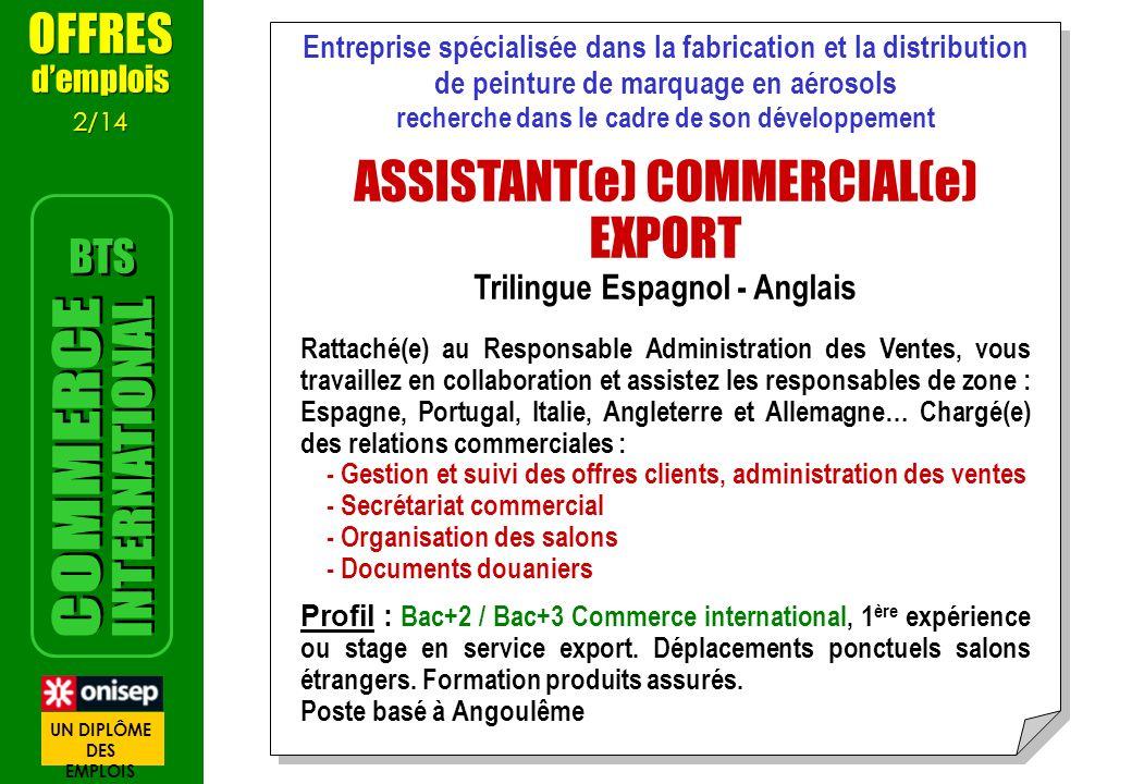 Entreprise spécialisée dans la fabrication et la distribution de peinture de marquage en aérosols recherche dans le cadre de son développement ASSISTA