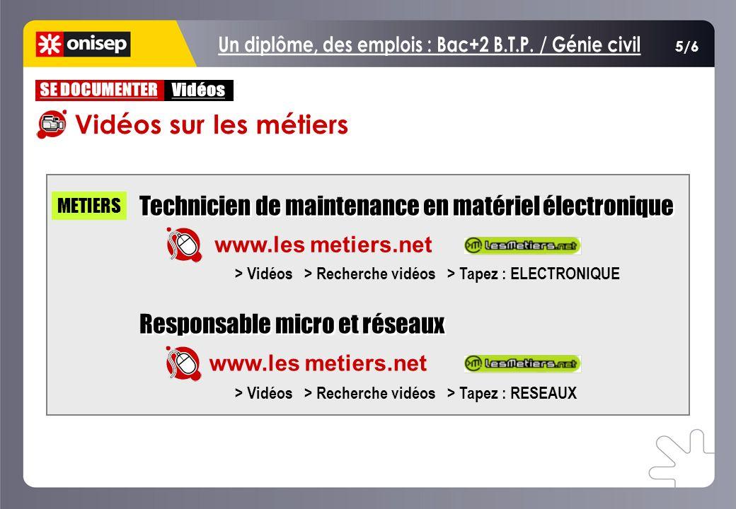 5/6 Technicien de maintenance en matériel électronique Responsable micro et réseaux Technicien de maintenance en matériel électronique Responsable mic