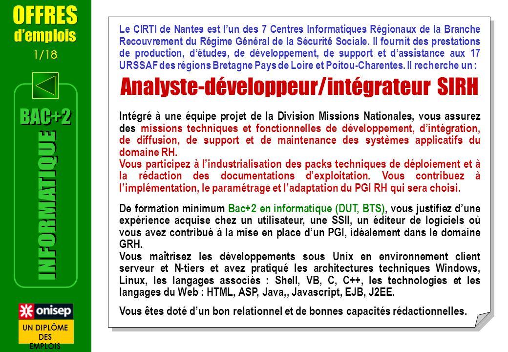 Le CIRTI de Nantes est lun des 7 Centres Informatiques Régionaux de la Branche Recouvrement du Régime Général de la Sécurité Sociale. Il fournit des p