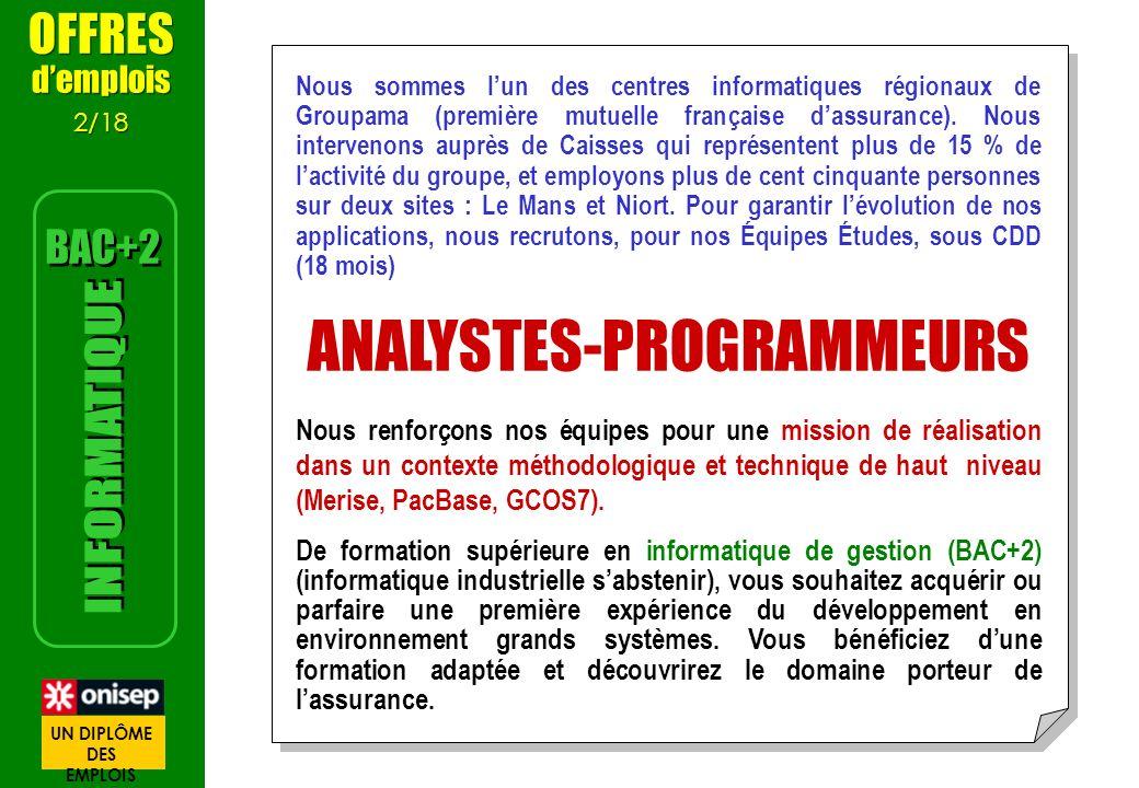 Nous sommes lun des centres informatiques régionaux de Groupama (première mutuelle française dassurance). Nous intervenons auprès de Caisses qui repré