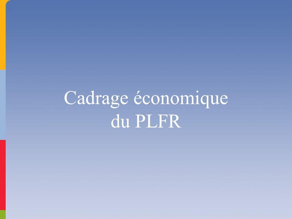 Cadrage économique du PLFR