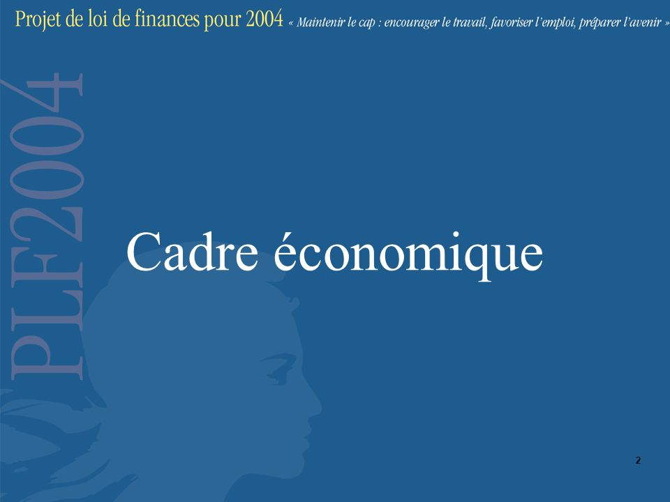 Cadre économique 2