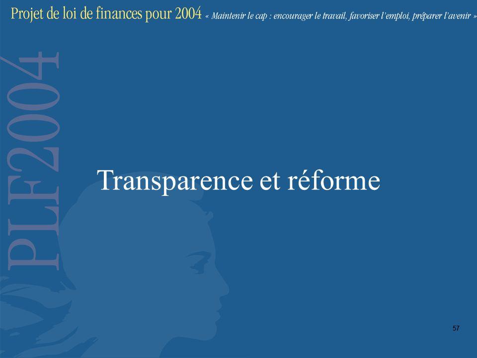 Transparence et réforme 57