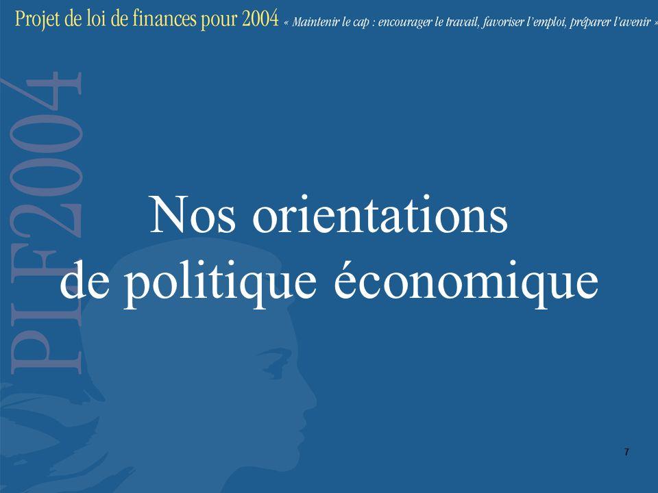 Nos orientations de politique économique 7