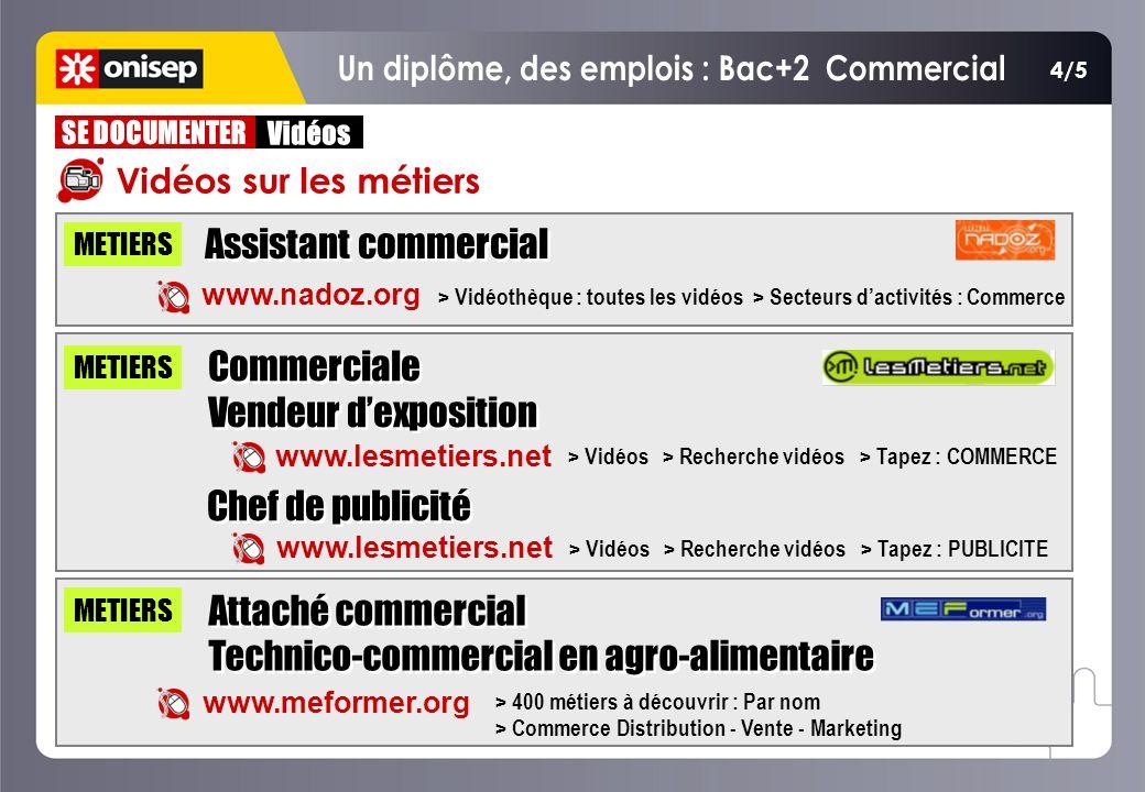 Vidéos sur les métiers Assistant commercial METIERS www.nadoz.org > Vidéothèque : toutes les vidéos > Secteurs dactivités : Commerce METIERS www.lesme