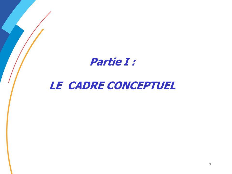 4 Partie I : LE CADRE CONCEPTUEL