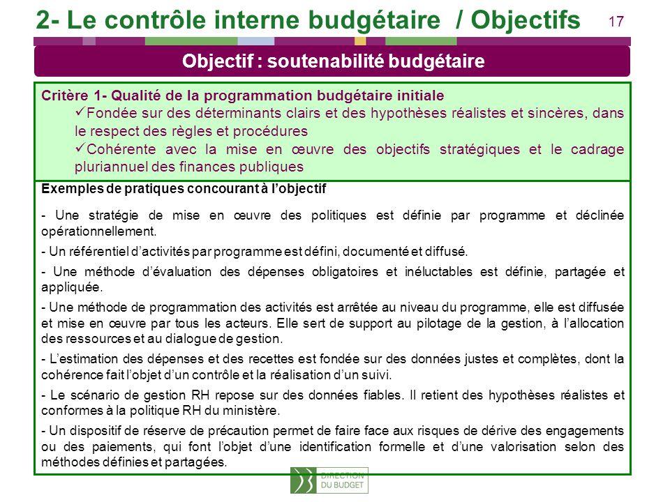 17 Exemples de pratiques concourant à lobjectif - Une stratégie de mise en œuvre des politiques est définie par programme et déclinée opérationnelleme