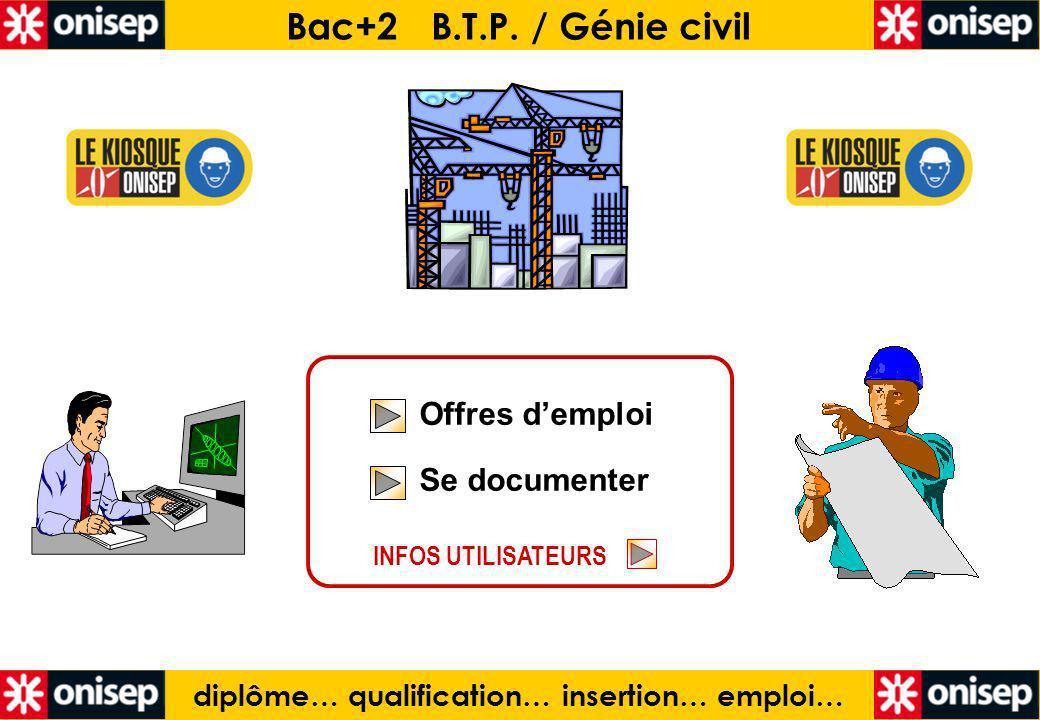 diplôme… qualification… insertion… emploi… Bac+2 B.T.P.