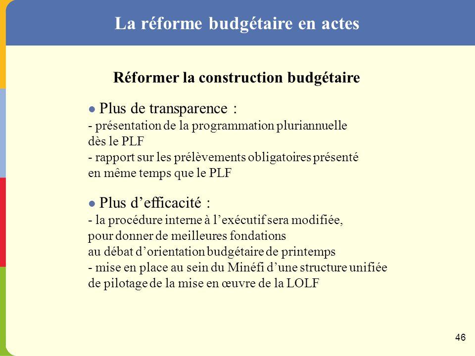 La réforme budgétaire en actes 45