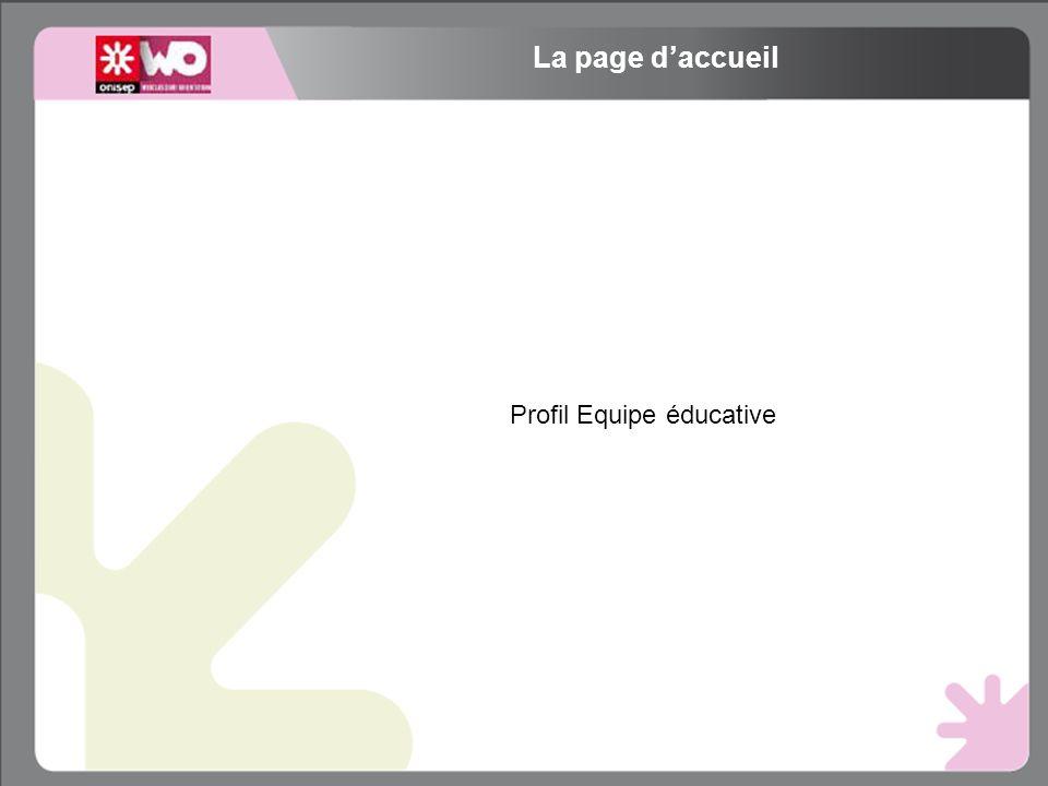 Profil Equipe éducative La page daccueil