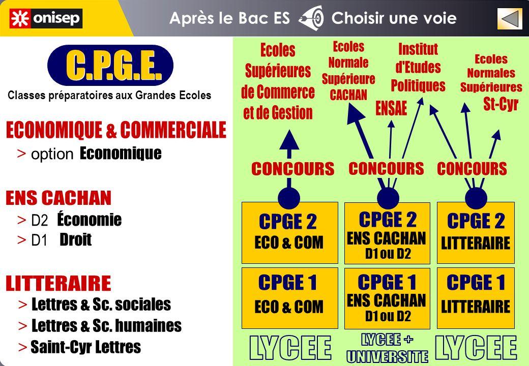 C.P.G.E. Classes préparatoires aux Grandes Ecoles C.P.G.E.