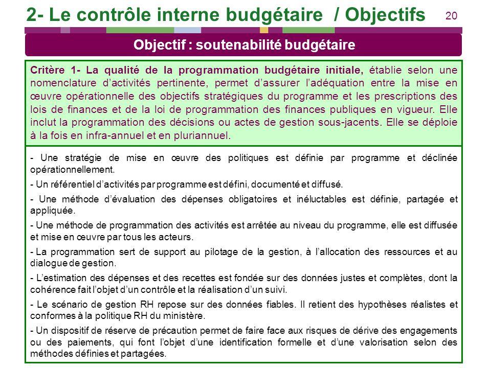 20 Exemples de pratiques concourant à lobjectif - Une stratégie de mise en œuvre des politiques est définie par programme et déclinée opérationnelleme