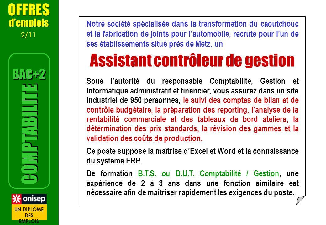 2/3 Vidéos sur les métiers Comptable METIERS http://oniseptv.onisep.fr