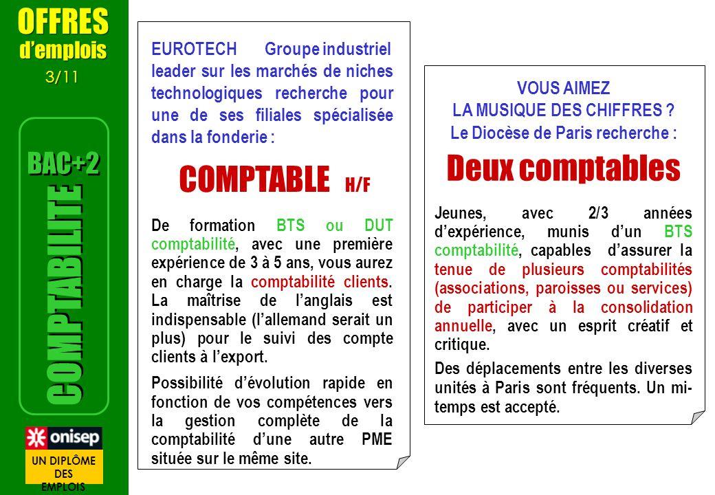 3/3 METIERS www.les metiers.net Comptable (Michèle titulaire dun BTS Comptabilité) Inspectrice du Trésor Public (Michèle titulaire dun DUT GEA) Comptable (Michèle titulaire dun BTS Comptabilité) Inspectrice du Trésor Public (Michèle titulaire dun DUT GEA) > Vidéos > Recherche vidéos > Tapez : COMPTABILITE www.les metiers.net > Vidéos > Recherche vidéos > Tapez : TRESOR Vidéos sur les métiers et les formations