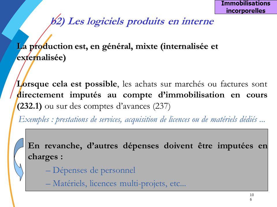 10 6 La production est, en général, mixte (internalisée et externalisée) Lorsque cela est possible, les achats sur marchés ou factures sont directemen