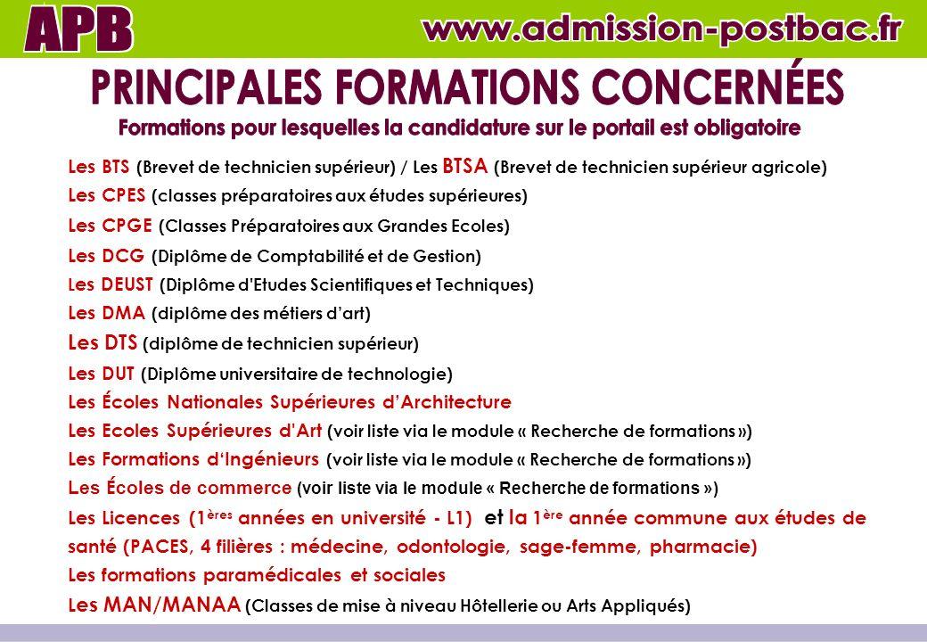 Module « Présentation des formations »