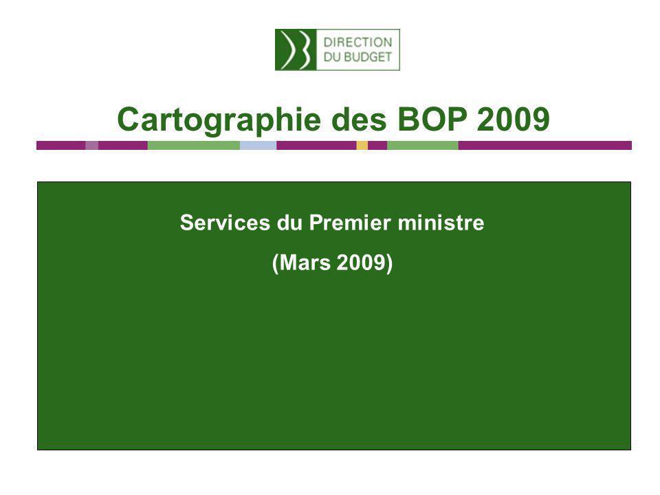 Cartographie des BOP 2009 Services du Premier ministre (Mars 2009)