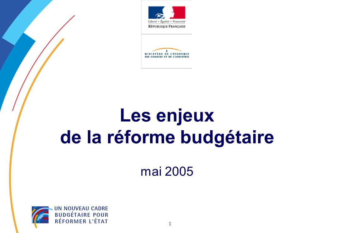 1 Les enjeux de la réforme budgétaire mai 2005