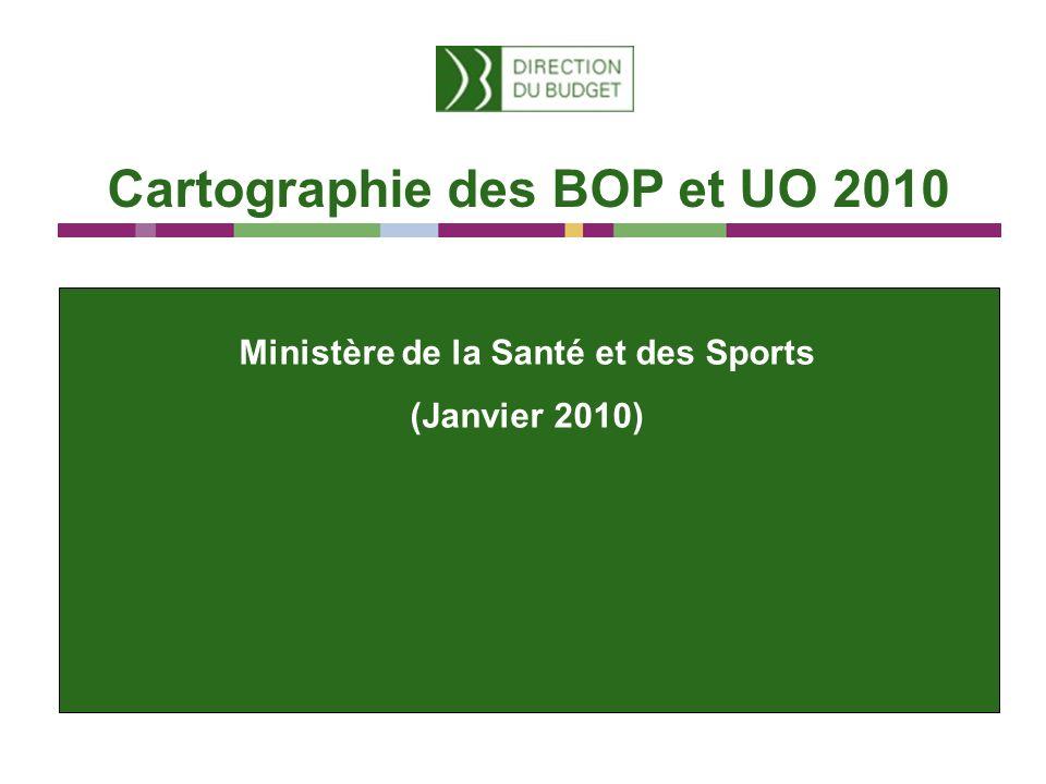 Cartographie des BOP et UO 2010 Ministère de la Santé et des Sports (Janvier 2010)