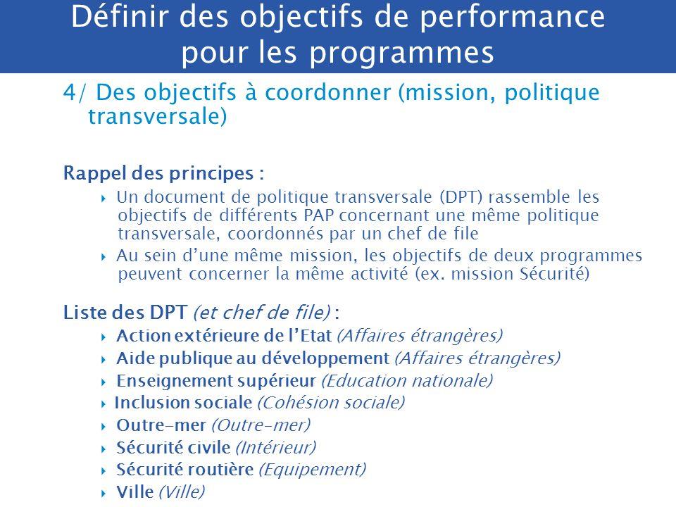 Politiques publiquesFonctions support Objectifs InterventionsPrestations de service Gestion de moyens Etat major Efficacité socio- économique Qualité