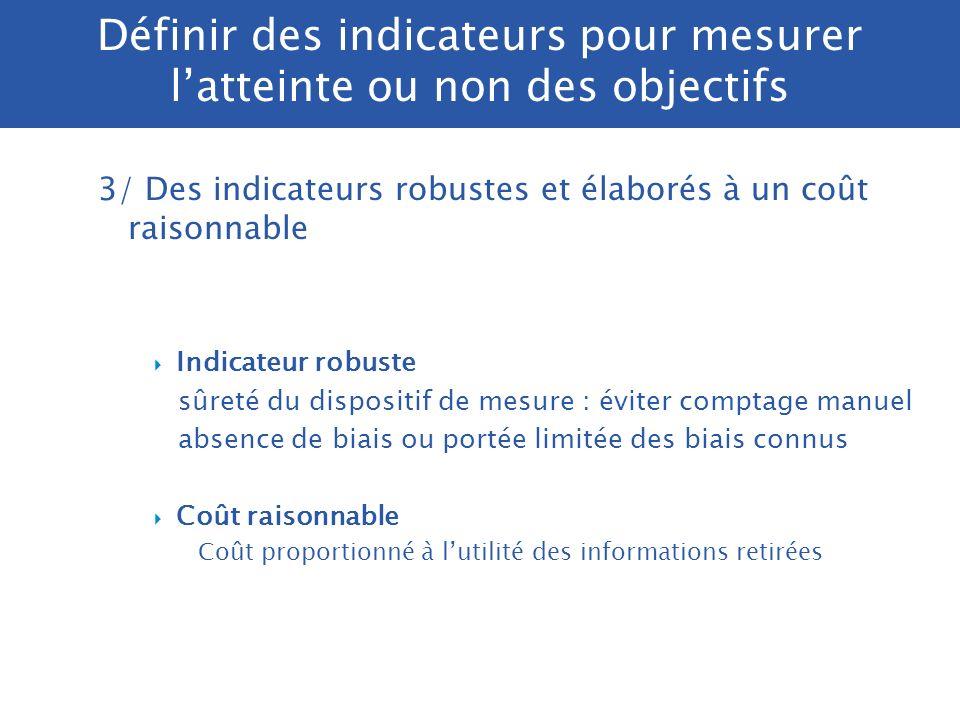 Présentation des indicateurs dans le PAP N° et intitulé