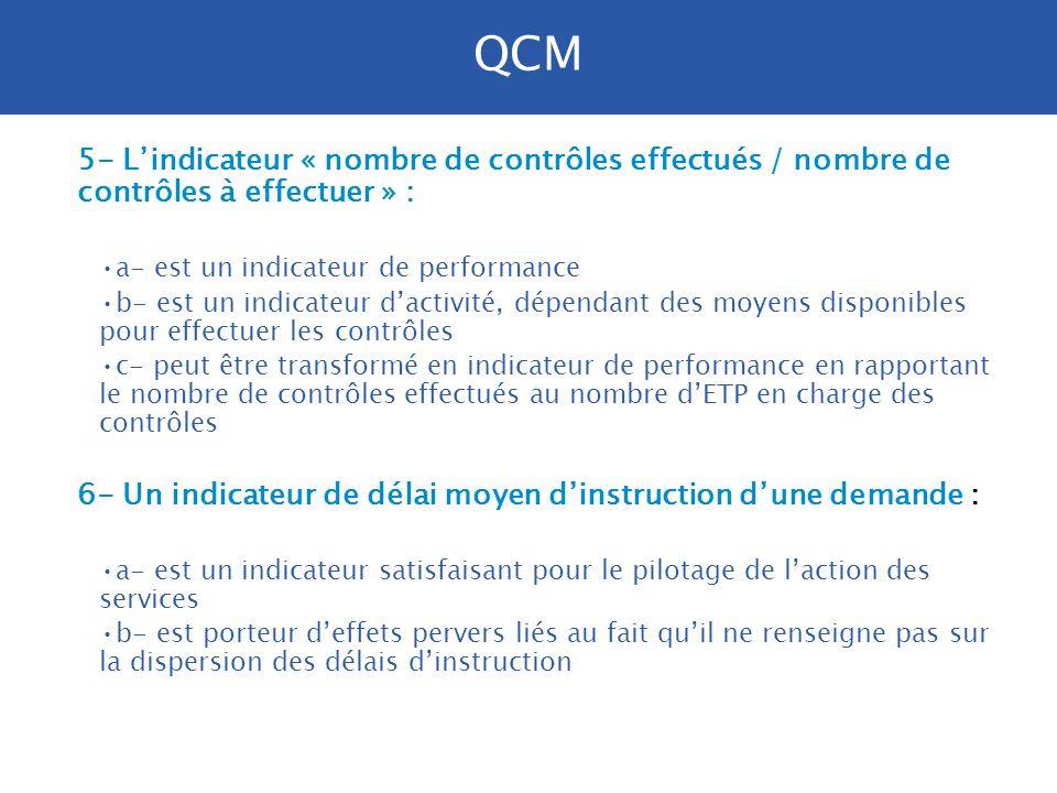 3- Les objectifs de performance : a- sont mesurés par des indicateurs chiffrés b- peuvent être définis pour plusieurs années c- doivent pouvoir être a