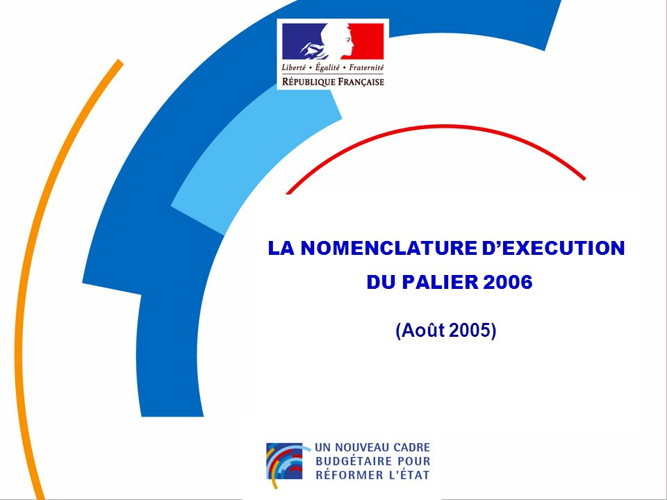 42 3. la nomenclature dexécution du « Palier 2006 » dEpenses de personnel