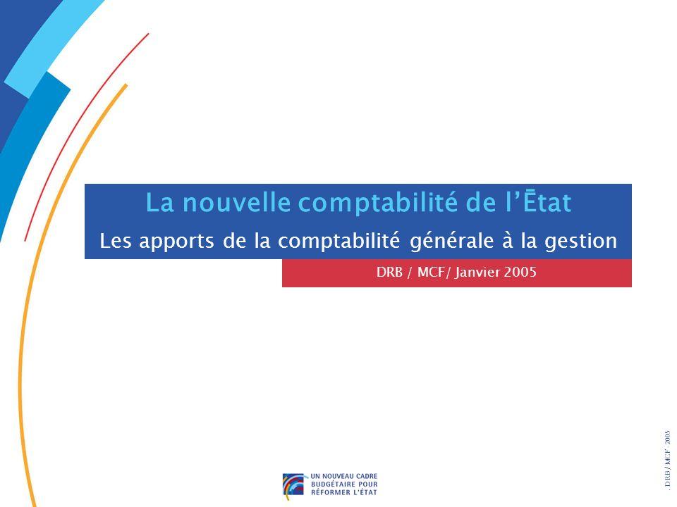 . DRB/ MCF - 2005 La nouvelle comptabilité de lĒtat Les apports de la comptabilité générale à la gestion DRB / MCF/ Janvier 2005
